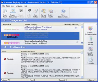 Advanced Registry Doctor Pro full screenshot